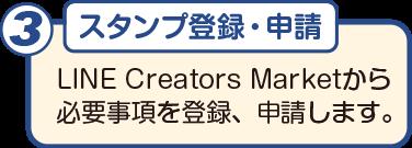 制作の流れ3 スタンプ登録・申請